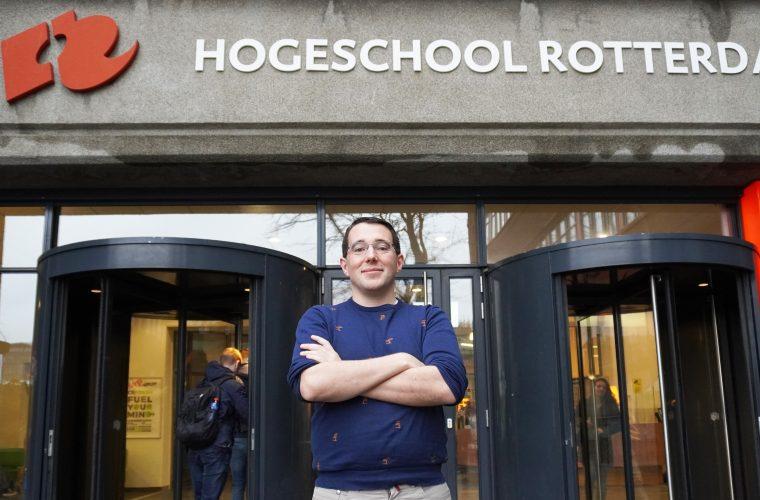 """""""Het helpt als ik zeg dat ik van Hogeschool Rotterdam ben"""""""